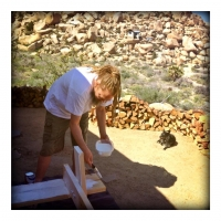 april20sunday-project-priming-the-picnic-bench-with-suki-supervising